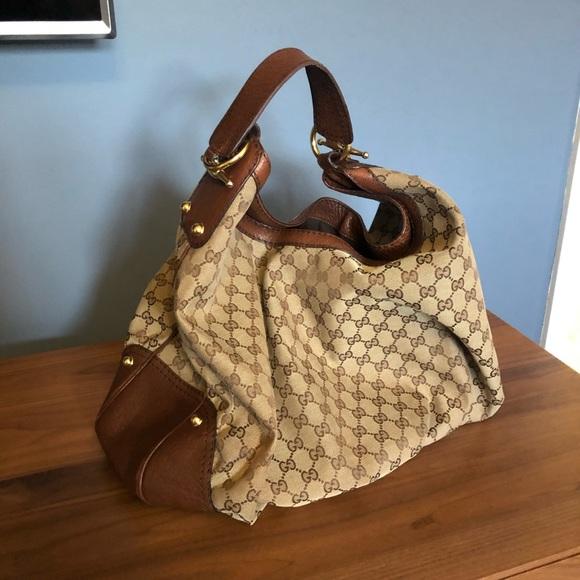 322a229ed2 Gucci Large Hobo Jockey Handbag